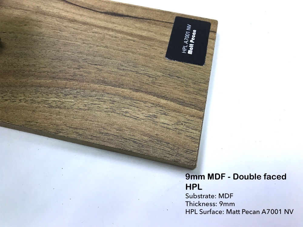 9mm MDF - Double faced HPL