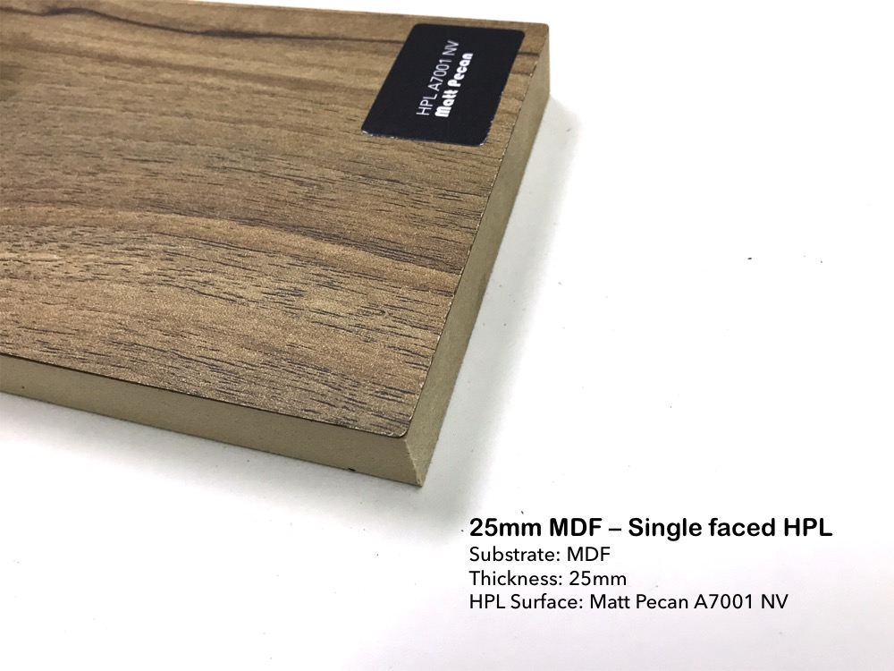 25mm MDF - Single faced HPL