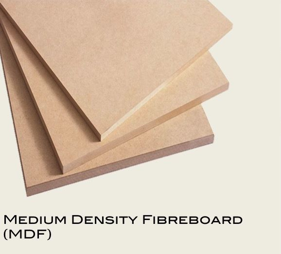 Medium density fibreboard (MDF) (3mm to 25mm)